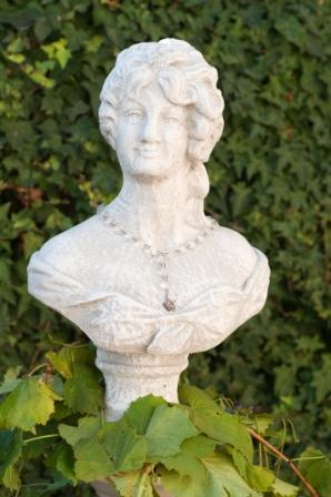 Cement female bust